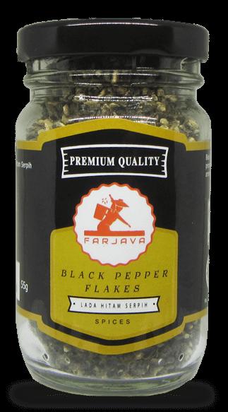 black pepper flakes